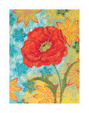 Sunset Poppy Giclee Print by Kate Birch