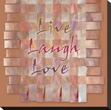 Live, Laugh, Love Stretched Canvas Print by Janis Boehm