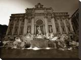 Trevi Fountatin Stretched Canvas Print by Dale MacMillan