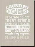 Laundry Room Rules I Stretched Canvas Print by Pamela Fogul