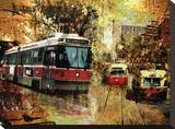 Streetcars Old and New Stretched Canvas Print by Suzanne Williams