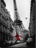 Den røde jakke Lærredstryk på blindramme