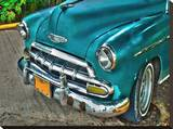 Varadero Chevy Stretched Canvas Print by Kevin Turino