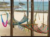 Hammocks Stretched Canvas Print by Antony Moran