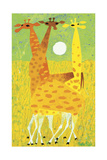 Giraffes Giclee Print by Mary Blair