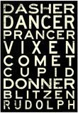 Reindeer Names Posters
