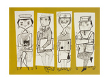 Workers Giclee Print by Mary Blair