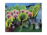 Church Wedding Pink Giclee Print by Mary Blair