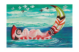 Waterbed Giclee Print by Mary Blair
