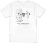 """Good God! He's giving the white-collar voters' speech to the blue collars."" - New Yorker T-Shirt T-Shirt by Joseph Farris"