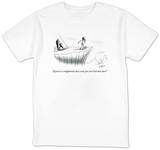 """If you're so enlightened, how come you can't lick that slice"" - New Yorker T-Shirt T-Shirt by Sam Gross"
