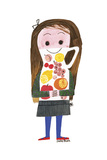 Juice Girl Giclee Print by Mary Blair