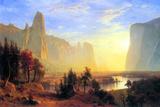 Albert Bierstadt Yosemite Valley Sun Rise Posters by Albert Bierstadt