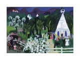 Church Wedding White Giclee Print by Mary Blair