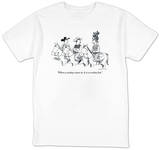 """When a cowboy wears it, it is a cowboy hat."" - New Yorker T-Shirt T-Shirt by Joe Dator"