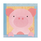 Farm Pig Giclee Print by Lorena Siminovich