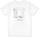 """A lot of homework?"" - New Yorker T-Shirt T-Shirt by Barbara Smaller"