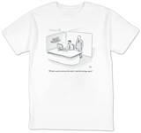 """We don't need to reinvent the wheel—just the earnings report."" - New Yorker T-Shirt T-Shirt by Paul Noth"