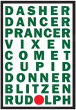 Reindeer Names Poster