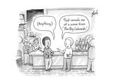 Two men at a bar discuss The Big Lebowski. - New Yorker Cartoon Premium Giclee Print by Tom Toro