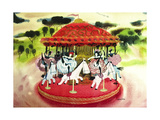 French Carosel Giclee Print by Mary Blair