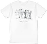 """The perp walks are killing us."" - New Yorker T-Shirt T-shirts by Danny Shanahan"