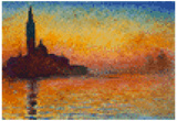 Claude Monet Dusk 8 Bit art
