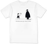"""They rubbed my tummy, chief—I told them everything."" - New Yorker T-Shirt T-shirts by Charles Barsotti"