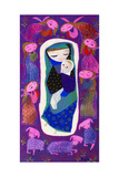 Purple Madonna Giclee Print by Mary Blair