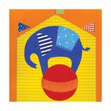 Circus Elephant Giclee Print by Lorena Siminovich