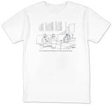 """You're not playing with the big boys, Ed, until you get yourself a Sherpa."" - New Yorker T-Shirt T-shirts by Jack Ziegler"