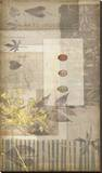 Notebook Collage V Stretched Canvas Print by Jennifer Goldberger