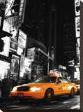 Cab NYC Stretched Canvas Print by Dale MacMillan