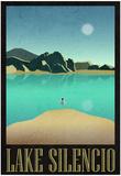 Lake Silencio Retro Travel Poster Foto