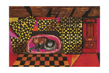 Cozy Cats Giclee Print by Mary Blair