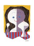 Ice Cream Girl Giclee Print by Mary Blair