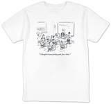 """""""I thought it was pretty good, for a book."""" - New Yorker T-Shirt Shirt by David Sipress"""