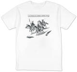 Two Barbarians and a Professor of Barbarian Studies - New Yorker T-Shirt T-Shirt by Frank Cotham