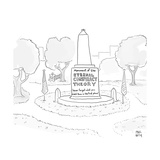 Monument of the Eternal Conspiracy Theory - Cartoon Premium Giclee Print by Paul Noth