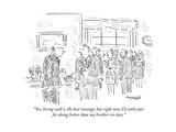 Untitled - New Yorker Cartoon Premium Giclee Print by Robert Mankoff