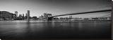 Black & White Manhattan Bridge Stretched Canvas Print by AJ Messier