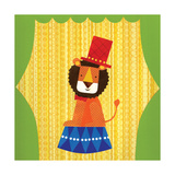 Circus Lion Giclee Print by Lorena Siminovich