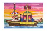 Pleasure Boat Giclee Print by Mary Blair