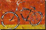 Gold and Orange Bike Stretched Canvas Print by Daryl Thetford