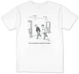 """To me, a principal is just a teacher with an attitude."" - New Yorker T-Shirt T-shirts by Frank Cotham"