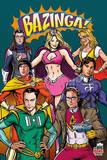 Big Bang Theory Superheroes Plakát