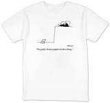 """Not guilty, because puppies do these things."" - New Yorker T-Shirt T-shirts by Charles Barsotti"