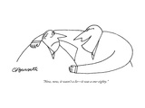 """Now, now, it wasn't a lie—it was a one-eighty."" - New Yorker Cartoon Premium Giclee Print by Charles Barsotti"