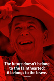 Ronald Reagan Future iNspire Quote Plastic Sign Wall Sign