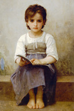 William-Adolphe Bouguereau The Difficult Lesson Plastic Sign Plastic Sign by William-Adolphe Bougurereau
